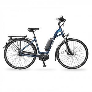 vélo électrique vélo de ville aeb 800 bleu noir